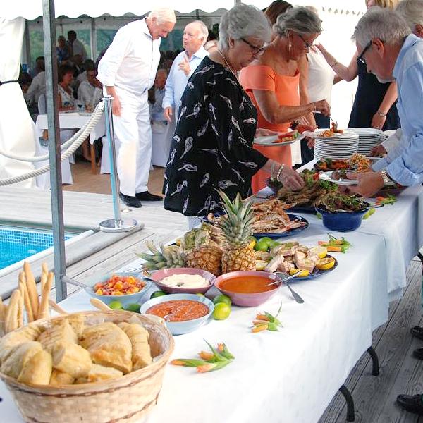 Catering, Buffé på fest i Stockholm